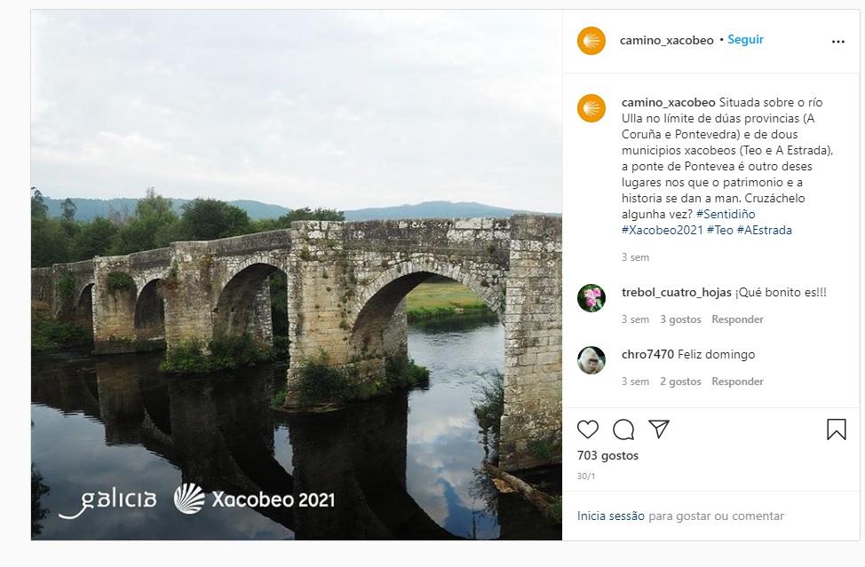 Caminho instagram xacobeo 2021