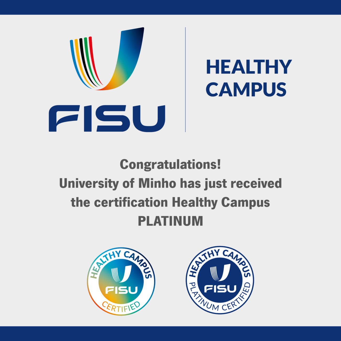 FISU Healthy Campus UMinho Certification